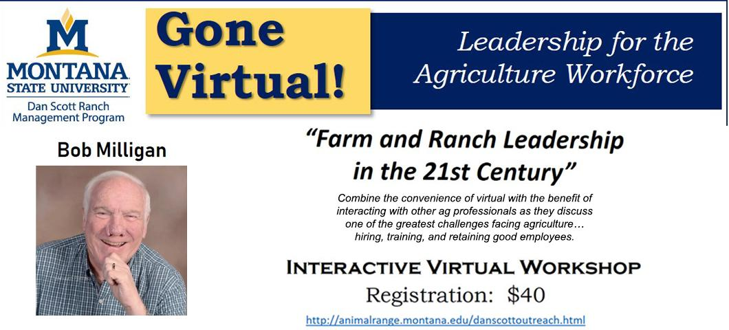 An upcoming event with Bob Milligan about leadership on the ranch.