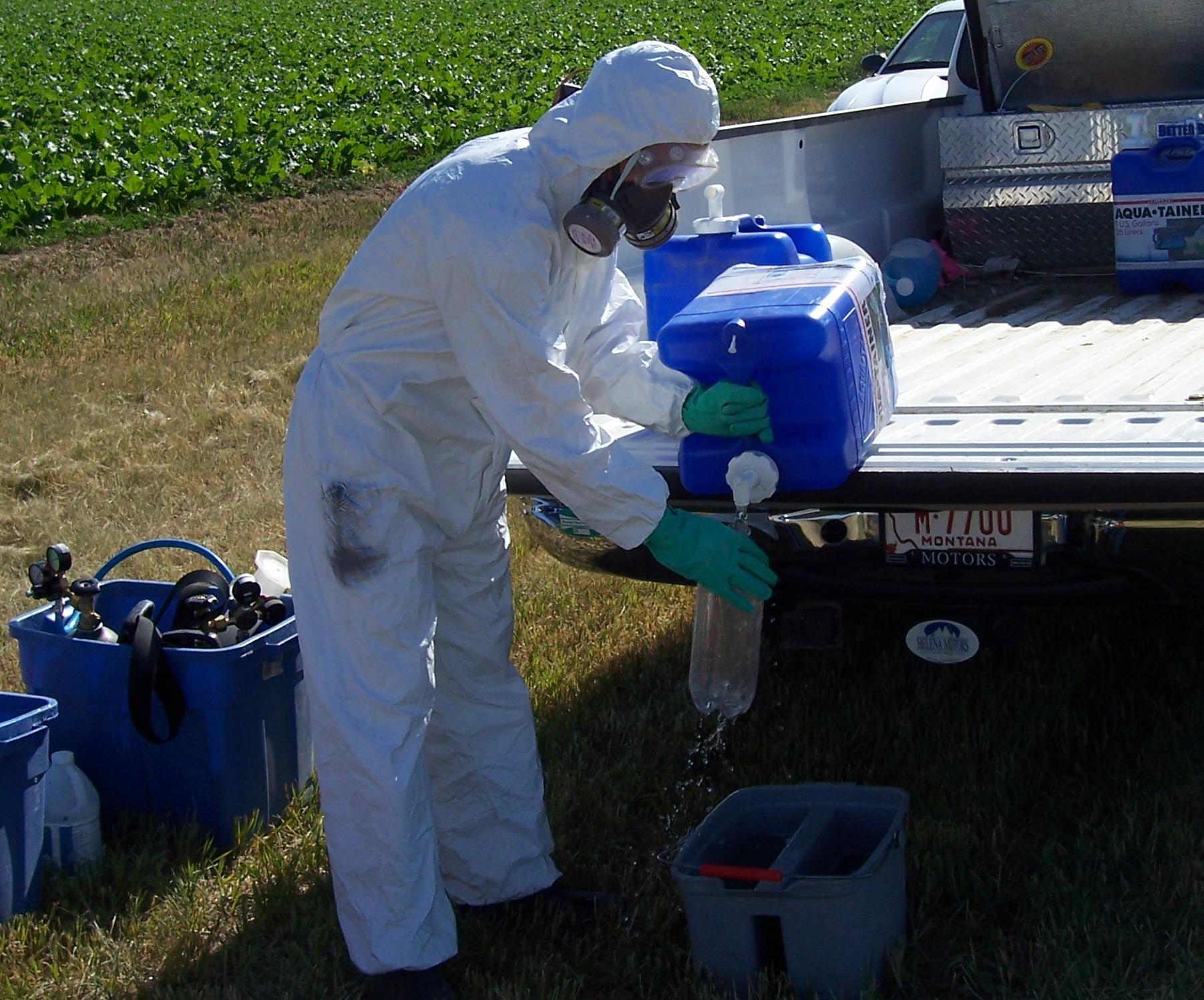 Pesticide worker